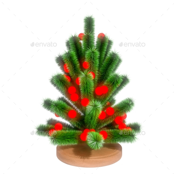 GraphicRiver Small Christmas Tree 3D Render 21124689