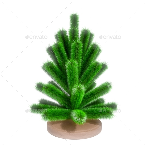 GraphicRiver Small Christmas Tree 3D Render 21124725