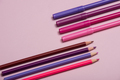 Colourful pencils over a pink background - PhotoDune Item for Sale