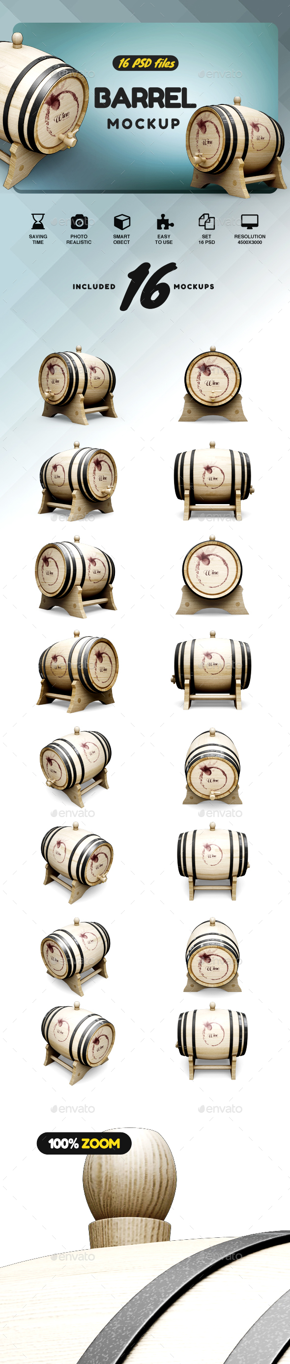 GraphicRiver Barrel Mockup 21124853