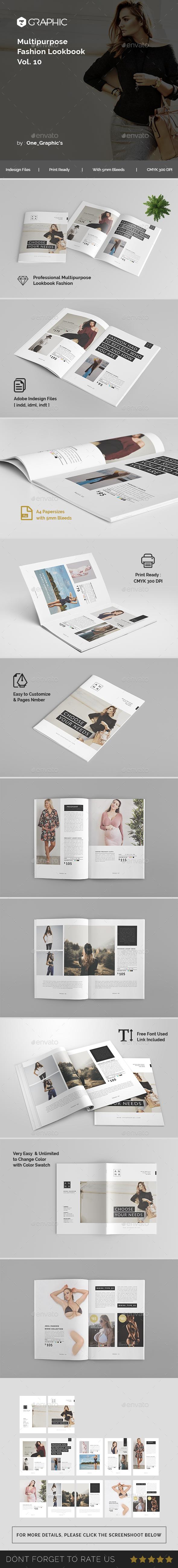 Fashion Lookbook Template Vol. 10 - Brochures Print Templates