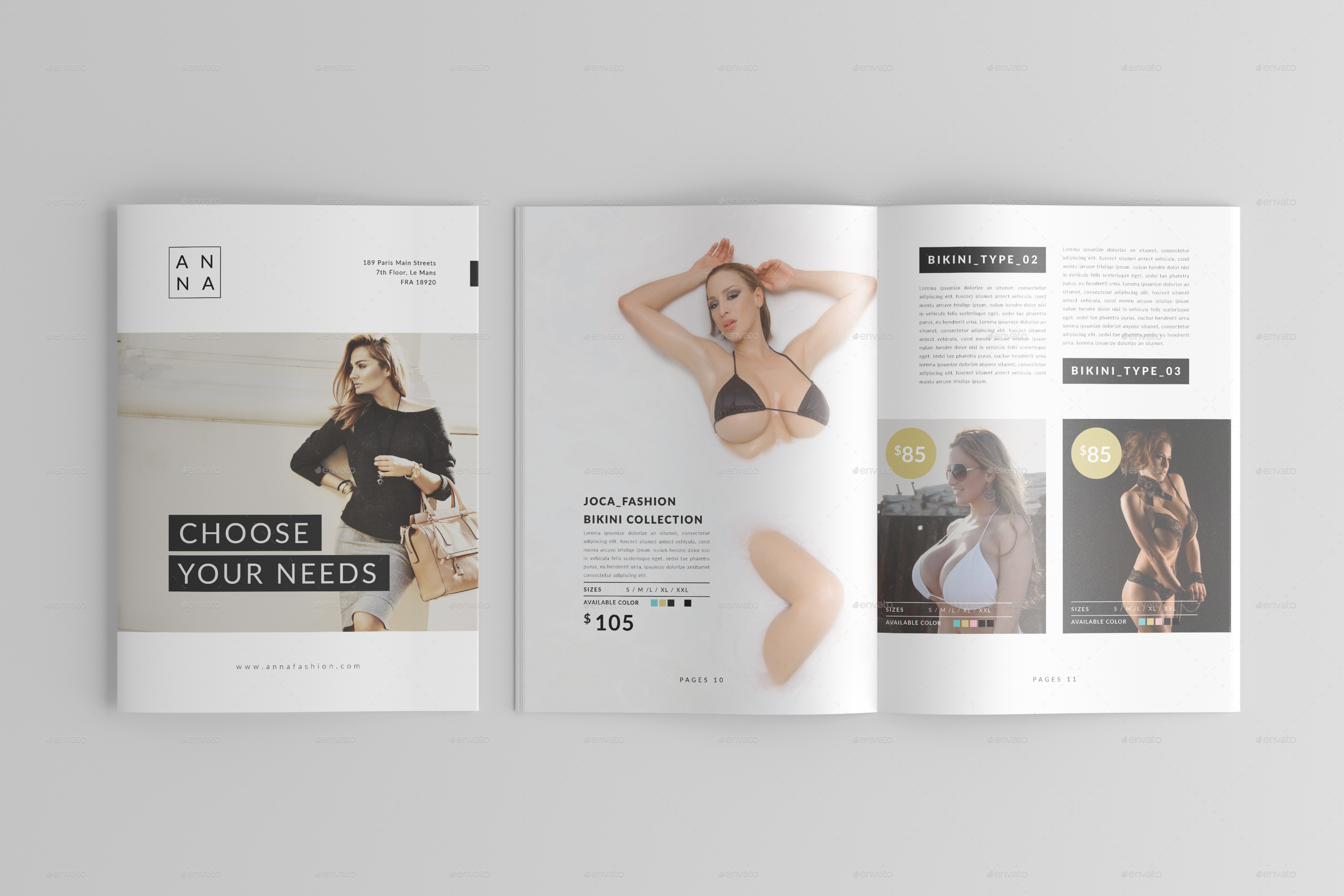 Fashion Lookbook Template Vol. 10 by one_graphics | GraphicRiver