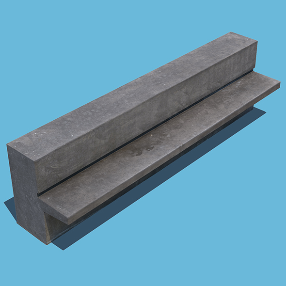 3DOcean Concrete Bench 21124988
