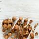 Fresh walnuts on an old wooden table - PhotoDune Item for Sale