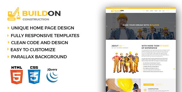 Image of Buildon - Construction & Business HTML5 Template
