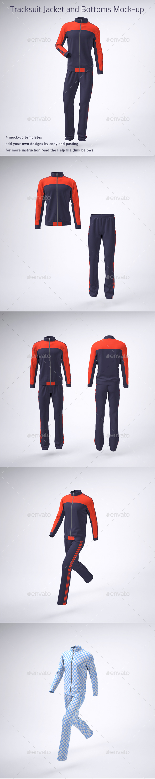Tracksuit Jacket and Bottoms Mock-up - Miscellaneous Apparel