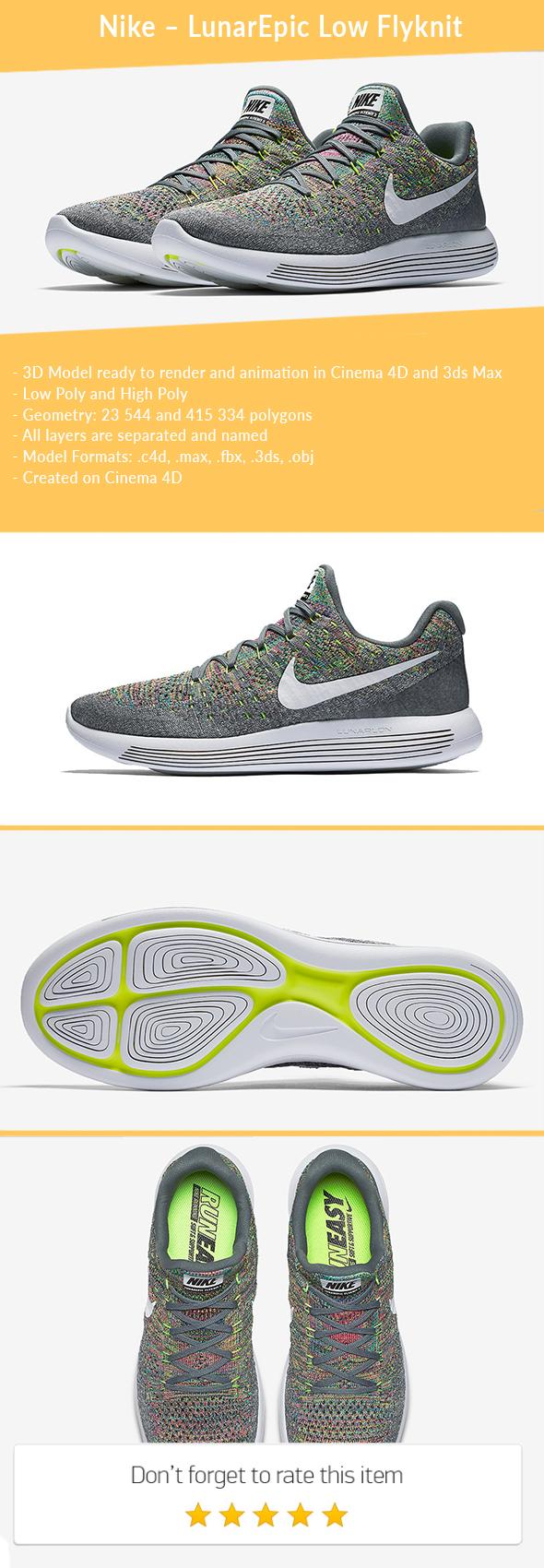 3DOcean Nike LunarEpic Low Flyknit 21125219