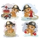 Teddy Bear Firefighter with Rescue Equipment