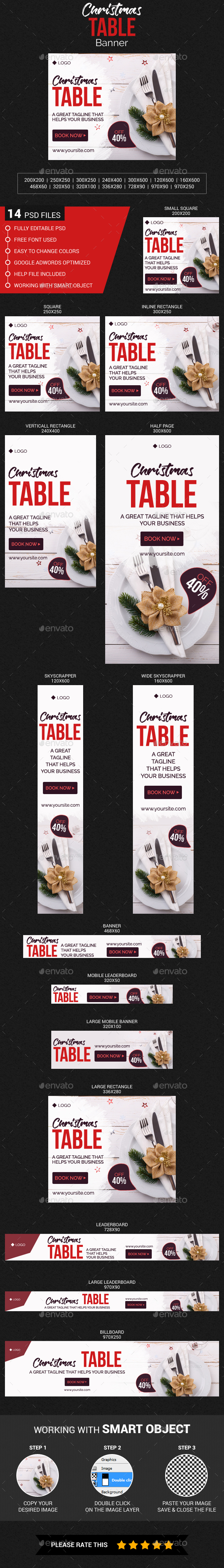 Christmas Table Banner - Banners & Ads Web Elements