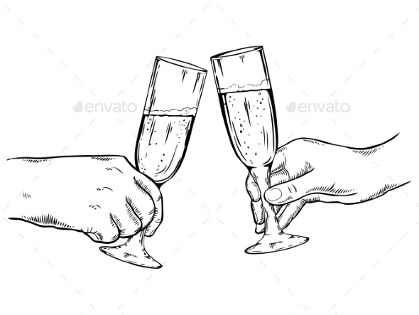 GraphicRiver Champagne Glasses Vector Illustration 21125396