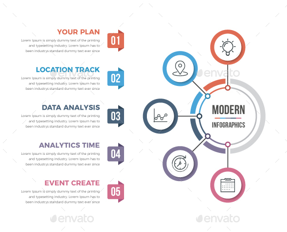 GraphicRiver Modern Circle Infographics 21125402