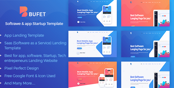 Bufet – App, Saas and Software Landing Page