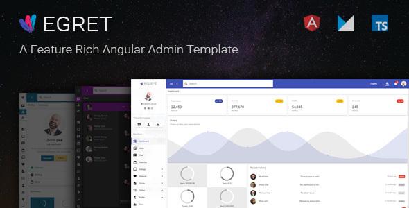 Egret - Angular 5 Material Design Admin Template - Admin Templates Site Templates