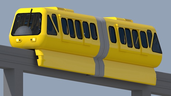 Monorail Train - 3DOcean Item for Sale