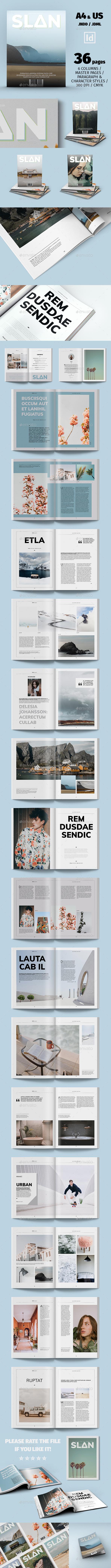 GraphicRiver Slan Magazine Template 21125945