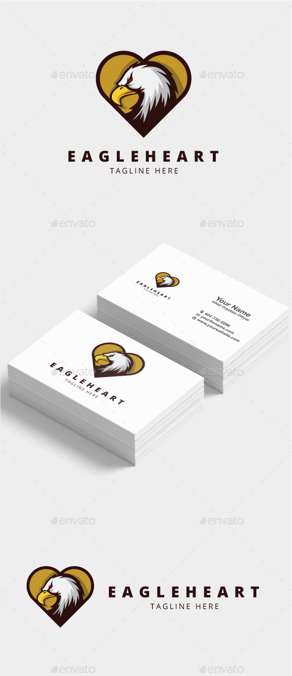 GraphicRiver Eagle Heart Logo 21125951