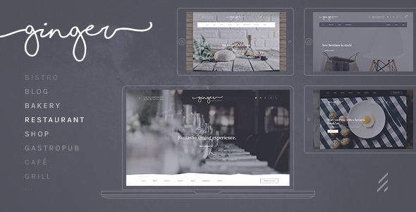 Image of Ginger: A Modern Multi-Purpose Restaurant WordPress Theme