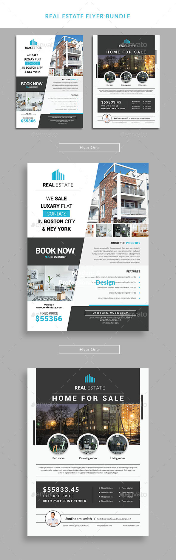 GraphicRiver Real estate flyer bundle 21126097