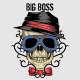 Big Boss Skull with Tribal Background - GraphicRiver Item for Sale