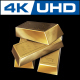 Fine Gold Bars 3D 4K - VideoHive Item for Sale