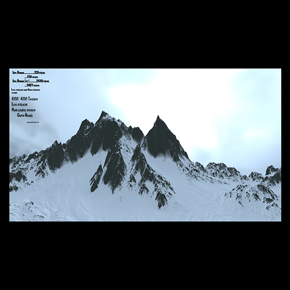 3DOcean snow mountain 2 21126218