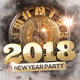New Year 2018 Party Flyer