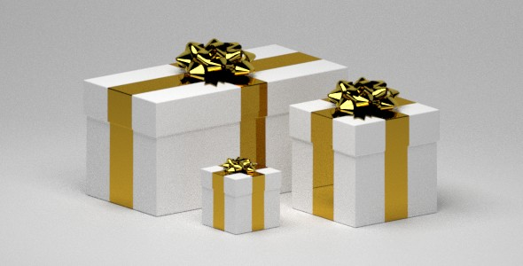 Gifts with a Ribbon Bow - 3DOcean Item for Sale