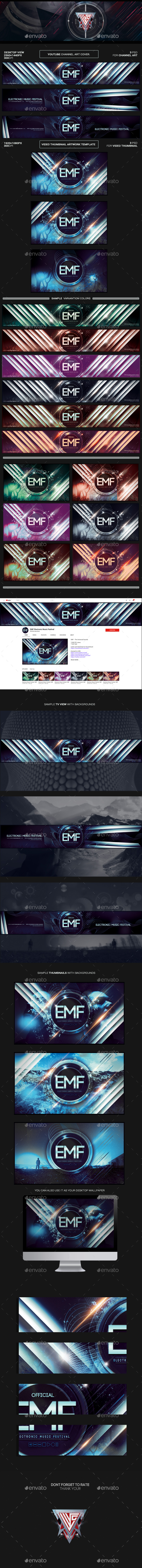 GraphicRiver Youtube Channel Art and Video Thumbnail Template 21126353