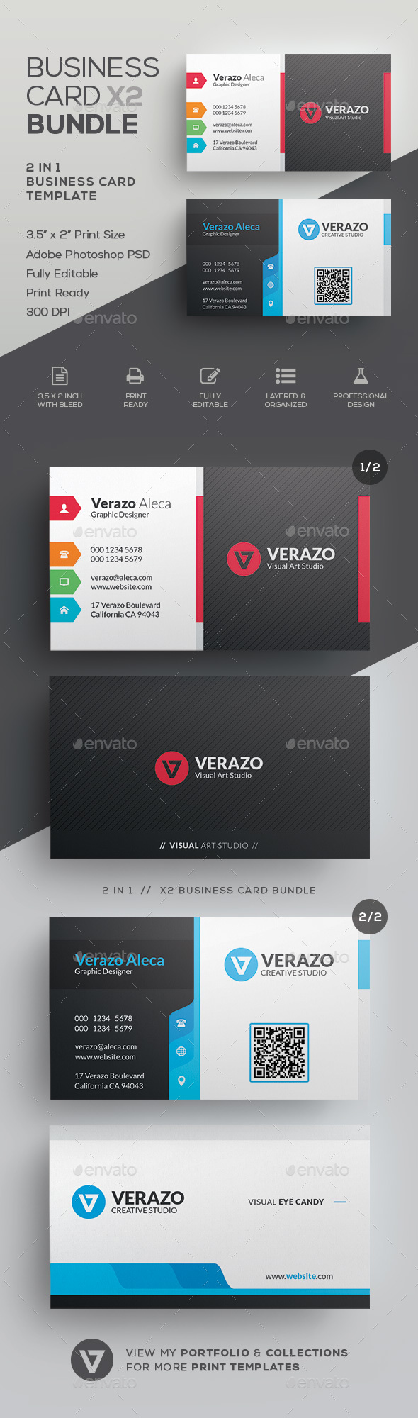 GraphicRiver Business Card Bundle 44 21126432