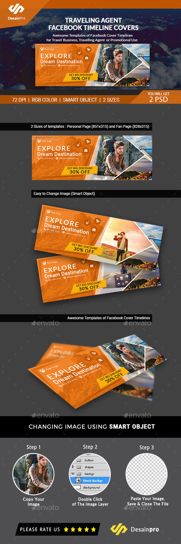GraphicRiver Traveling FB Timeline Covers AR 21126454