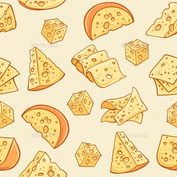 GraphicRiver Cheese Doodle Pattern 21126473