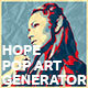 Hope Pop Art Generator - GraphicRiver Item for Sale