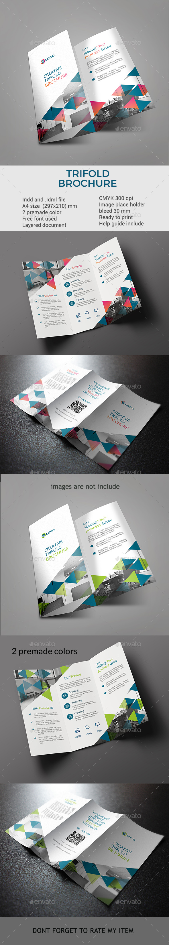 GraphicRiver Trifold Brochure template 21126488