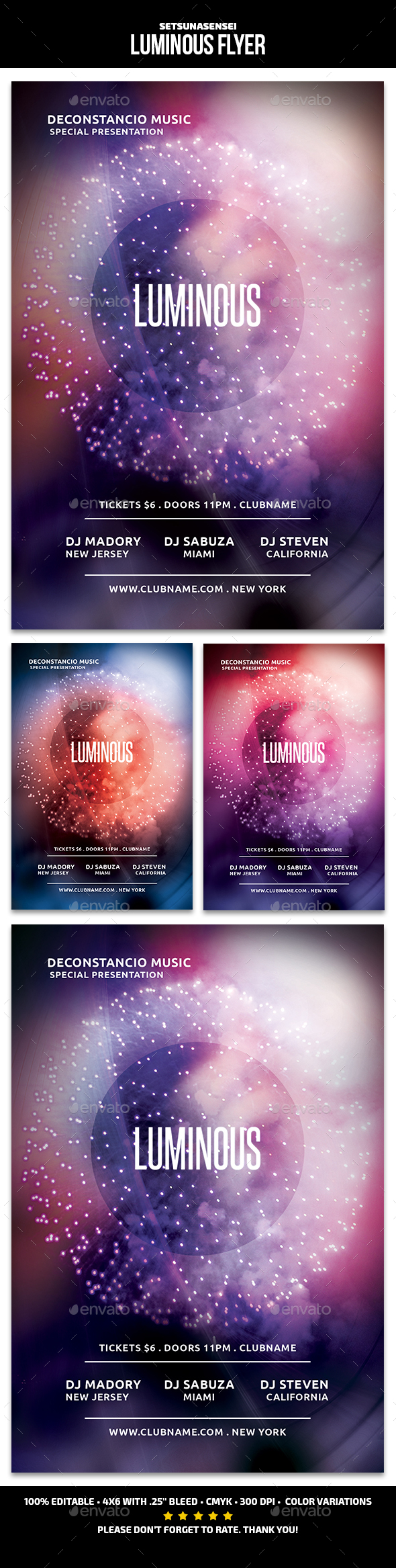 GraphicRiver Luminous Flyer 21126548