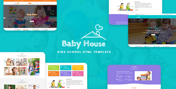 Baby House - Kids School, Kinder Garden and Play School Multipurpose HTML5 Template by IT-geeks