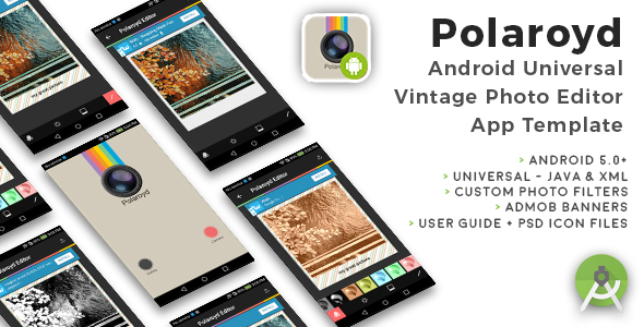 Polaroyd | Android Universal Photo App Template - CodeCanyon Item for Sale