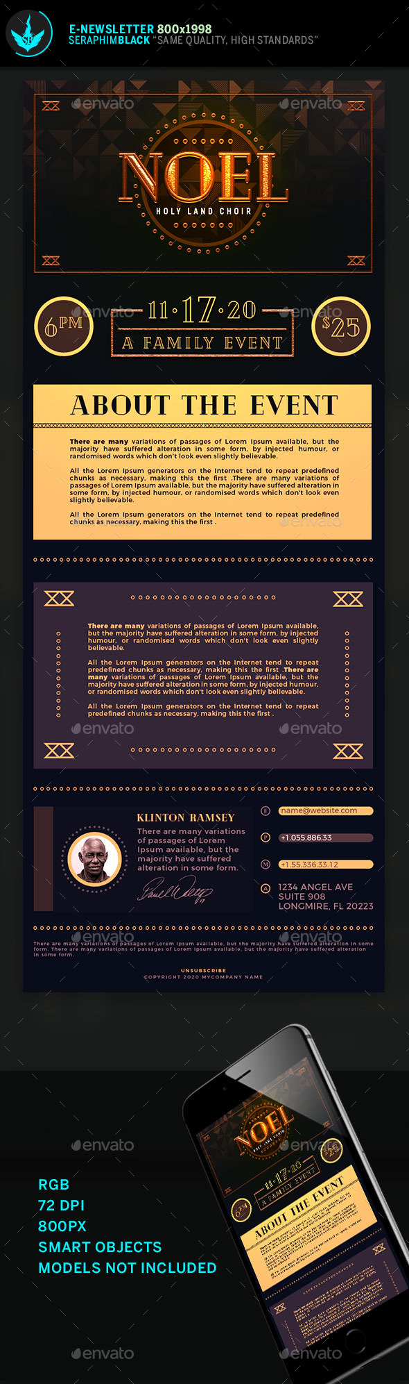 GraphicRiver Noel Christmas Gala E-Newsletter Template 21126894
