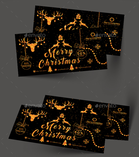 GraphicRiver Christmas Gift Voucher 21126958