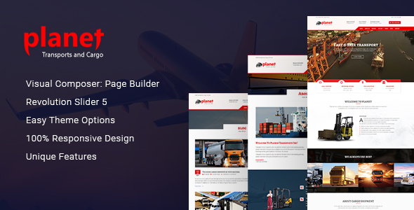 Planet – Logistics, Cargo, Transport & Shipping Company WordPress Theme - Business Corporate