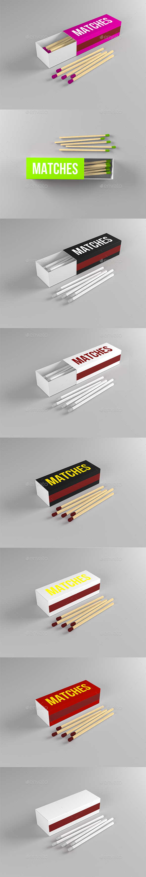 GraphicRiver Match Box Mock-up 21127090