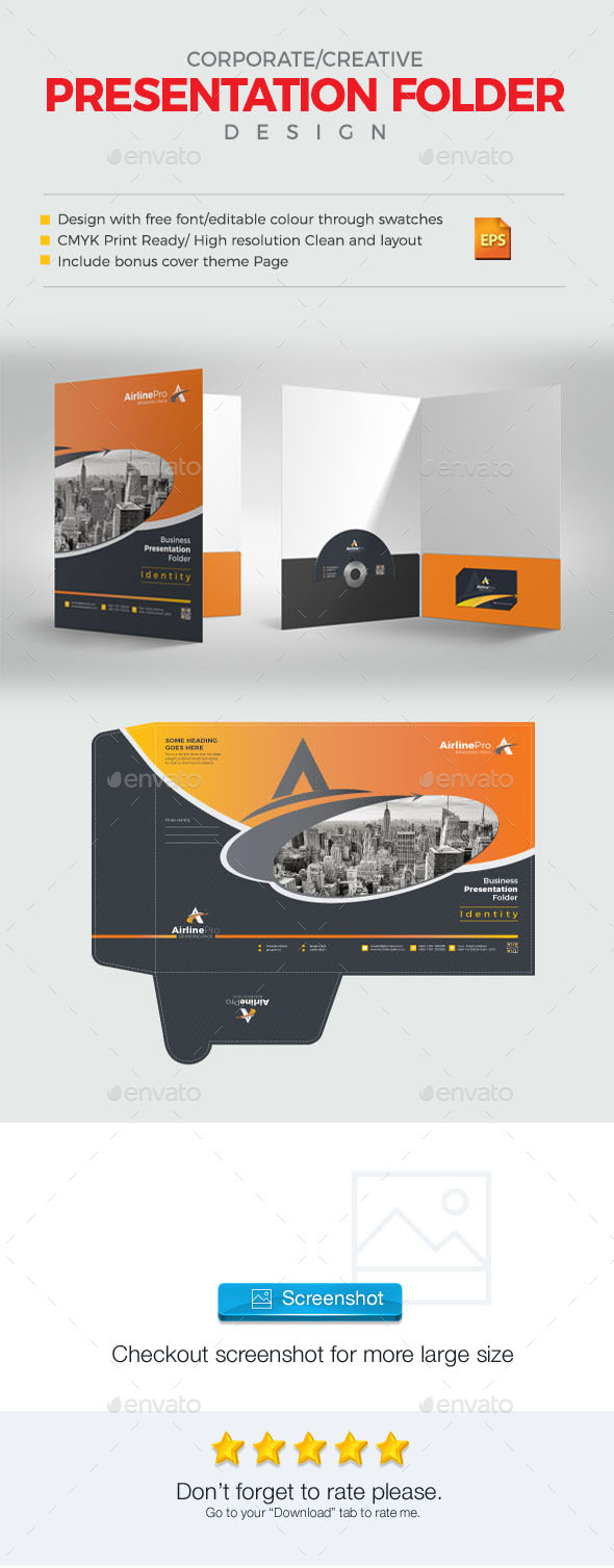 GraphicRiver AirlinePro Presentation Folder 21127149