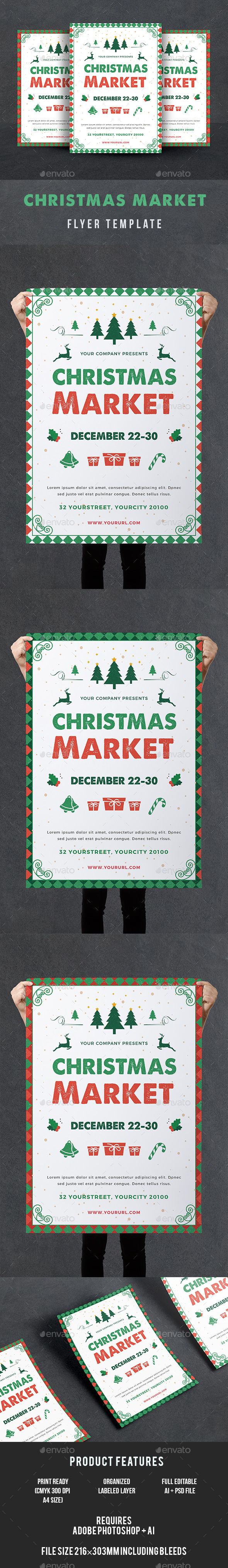 GraphicRiver Christmas Market Flyer 21127381