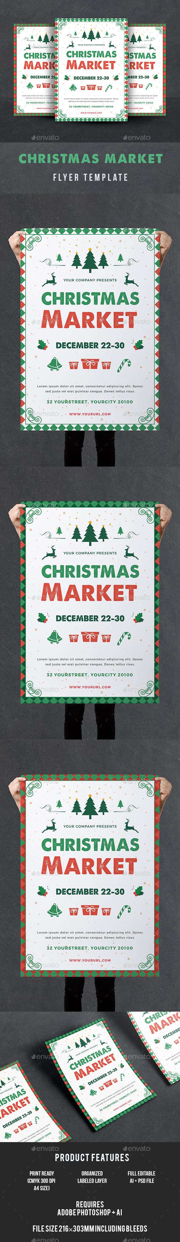 Christmas Market Flyer - Events Flyers