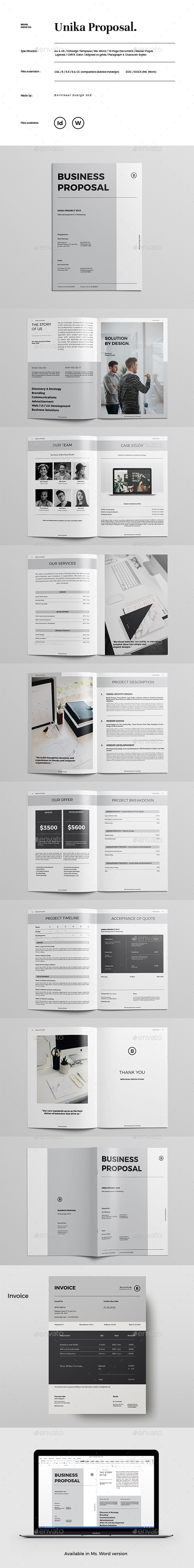 GraphicRiver Unika Proposal Template 21127449