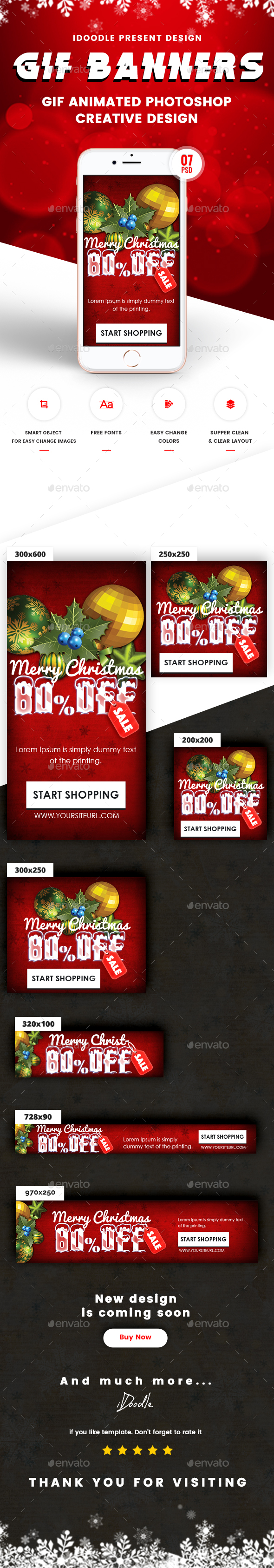 GraphicRiver Animated GIF Christmas Banners Ad 21127470