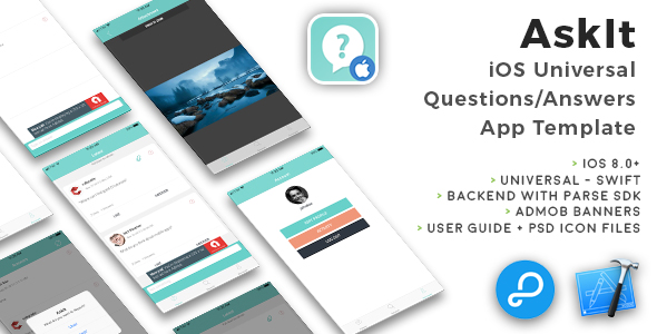 AskIt | iOS Universal Questions/Answers App Template (Swift) - CodeCanyon Item for Sale