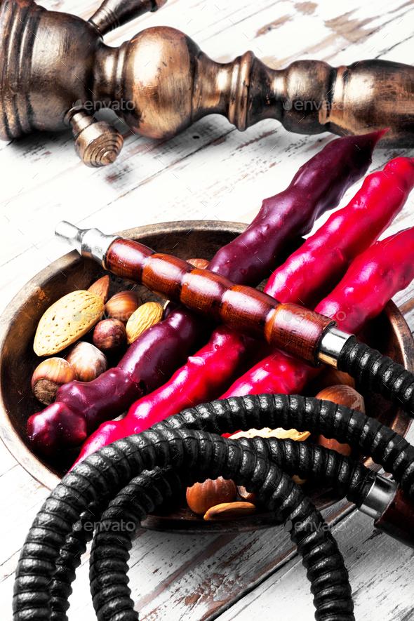 hookah shisha with nut - Stock Photo - Images