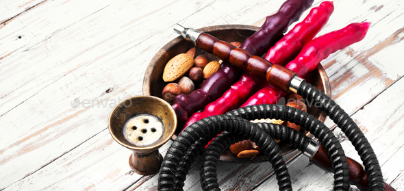 hookah shisha with nut - Stock Photo - Images