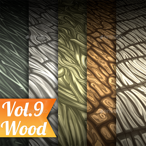 3DOcean Wood Vol.9 Hand Painted Texture Pack 21127742
