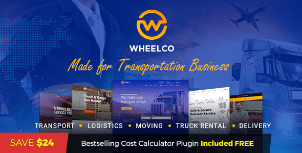 Image of Wheelco - Transportation WordPress Theme